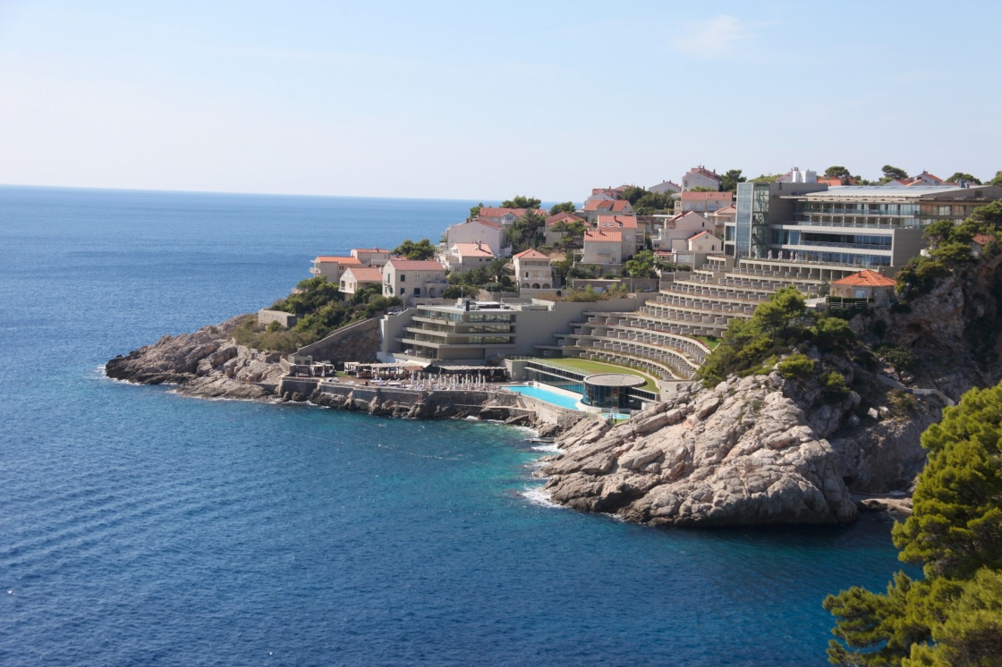 Hotel with swimming pool in Dubrovnik on the Dalmatian coastline