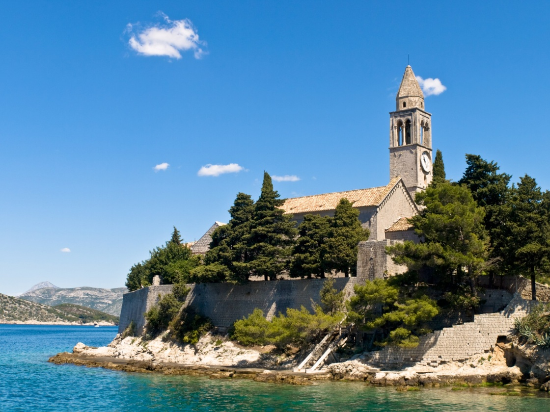 'Catholic monastery on island Lopud, near Dubrovnik, Croatia.' - Dubrovnik